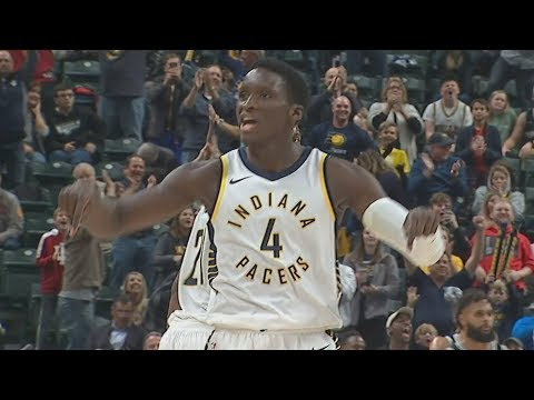 Victor Oladipo Game Winner vs Spurs!  Spurs vs Pacers 2017-18 Season