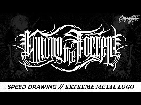 Speed Drawing // Extreme Metal Logo - Among The Torrent