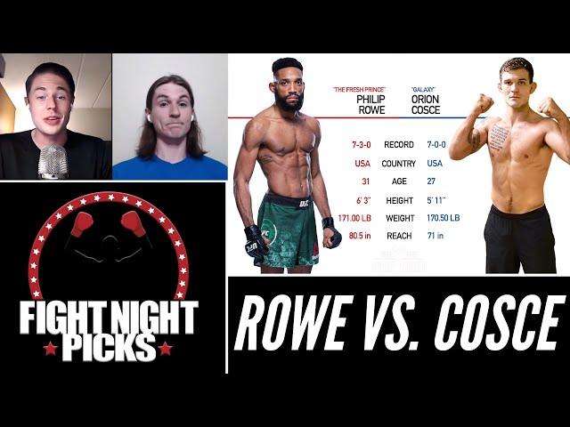 UFC Fight Night: Philip Rowe vs. Orion Cosce Prediction