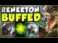 I LEAVE TOP... 4 DAYS LATER THE CROC GETS BUFFED?? BUFFED RENEKTON TOP GAMEPLAY! - League of Legends