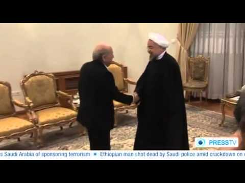 FIFA President Sepp Blatter Meets Hassan Rouhani