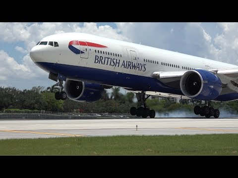 British Airways Boeing 777 at Fort Lauderdale Intl