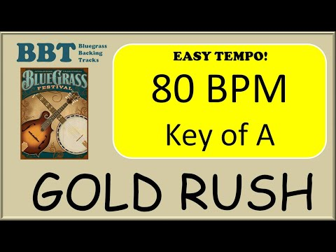 Gold Rush backing track Easy Tempo 80