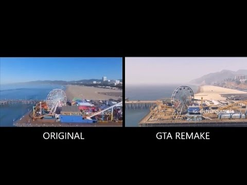 Santa Monica (RealLife V.S GTA V) Comparison.