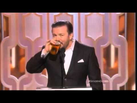 Ricky Gervais just killed it on the Golden Globes