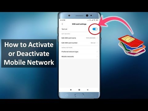 How To Activate Or Deactivate Mobile Network In Android In Hindi 2019