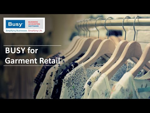 BUSY for Garments Retail - English