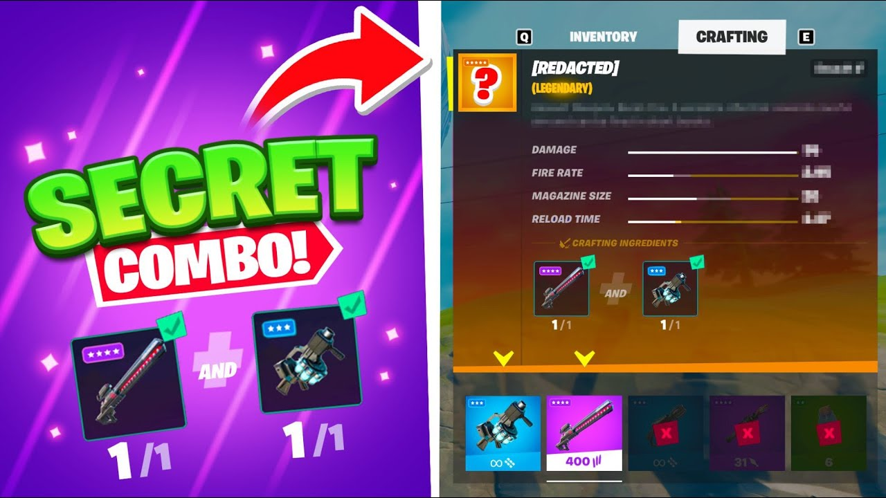 Crafting BANNED weapons in Fortnite…