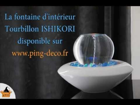 Fontaine d\'intérieur tourbillon blanche ISHIKORI (disponible sur ...