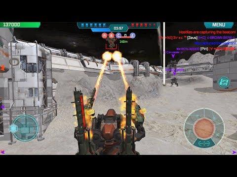 War Robots Clan Battles on the Moon - Friends Squad Vs Clan [A✦N☰]