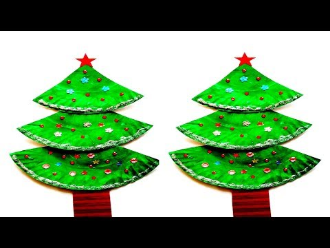 How To Make Christmas Tree With Paper Plate Diy Christmas Crafts