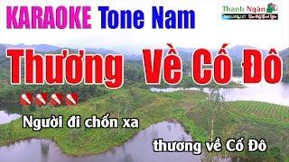 Thương Về Cố Đô Karaoke   Tone Nam - Nhạc Sống Thanh Ngân