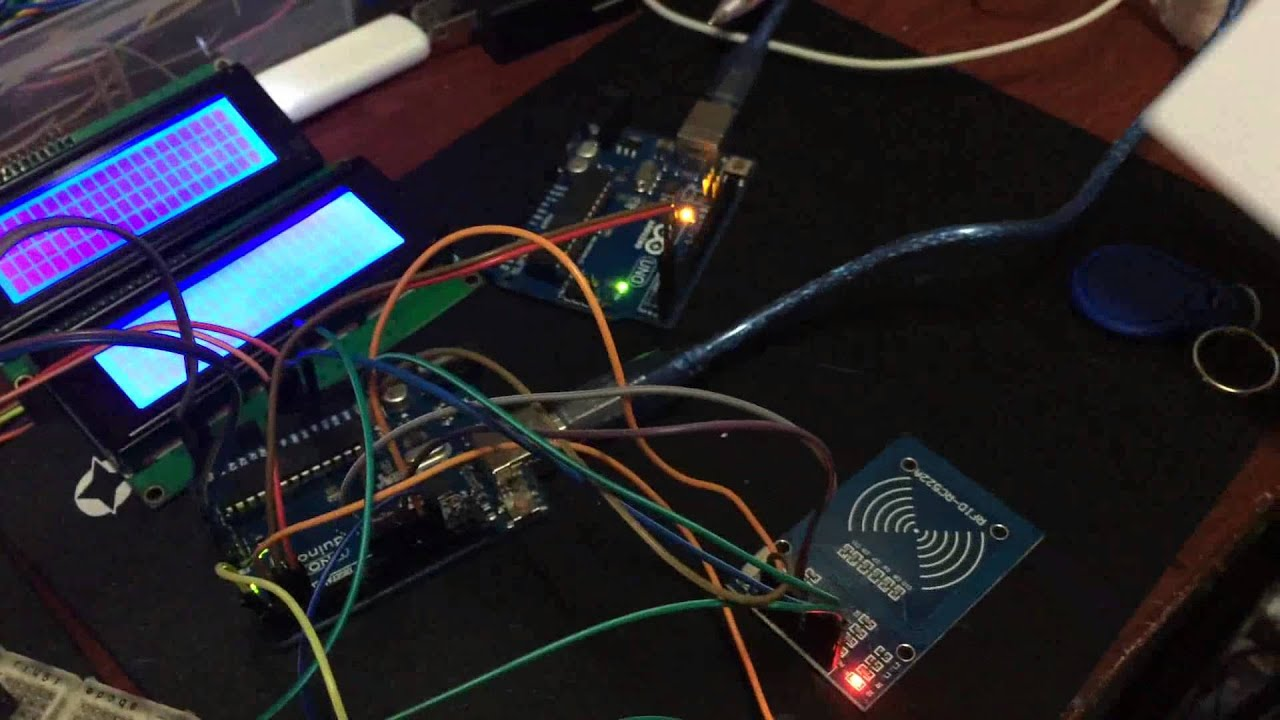 Arduino esp rfid post data to mysql multiple lcd