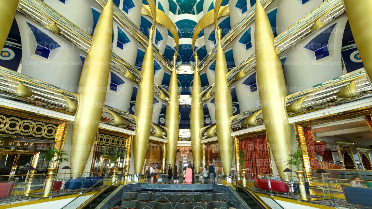 Interior Architecture Of Burj Al Arab Timelapse In Dubai