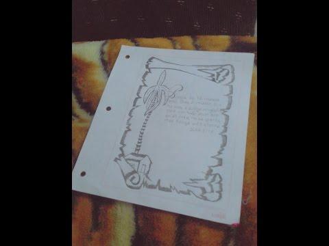 Como hacer una caratula para tu cuaderno sencillo