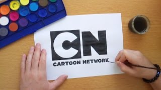 How to draw the Cartoon Network logo (Drawing famous logos)