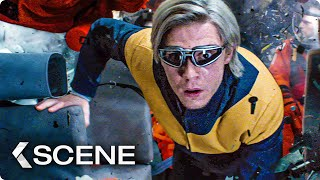 Quicksilver Saves Shuttle Crew Scene - X-MEN: Dark Phoenix (2019)