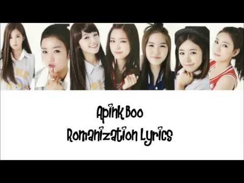 APink (에이핑크) -Boo Colour Coded Romanization Lyrics
