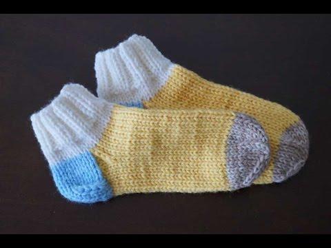 Учимся вязать носки спицами
