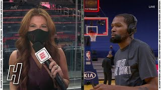 Kevin Durant Postgame Interview - <b>Nets</b> vs Warriors | February 13 ...