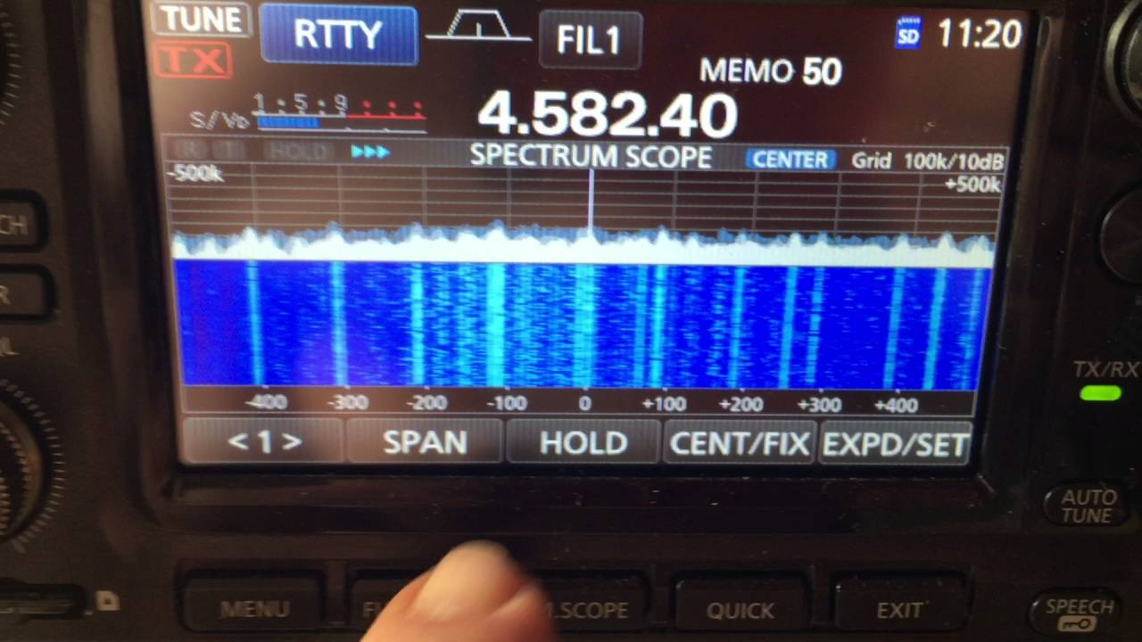 Icom IC 7300 + SCS Dragon 7800 Pactor Modem Weather forecast RTTY