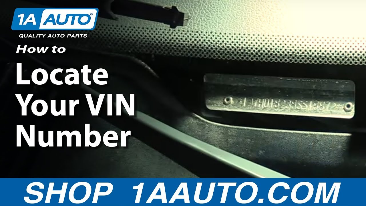 How To Locate Your VIN Number