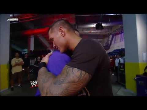 John Cena and Randy Orton share a hug backstage Raw ...