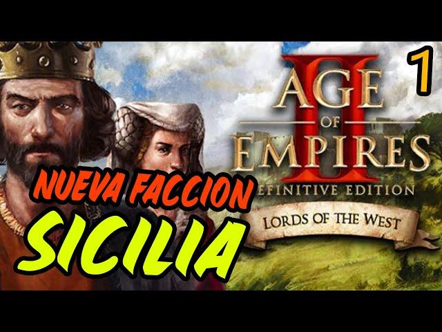 ¡ESTO EMPIEZA! - DLC Lords of the West en español - Campaña de Sicilia #1 - Age of Empires 2 DE