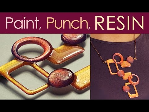 Paint Punch and Resin Jewelry & Buttons with little-windows.com