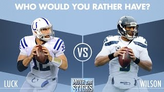 Andrew Luck or Russell Wilson: Which QB is Better?   Move the Sticks   NFL
