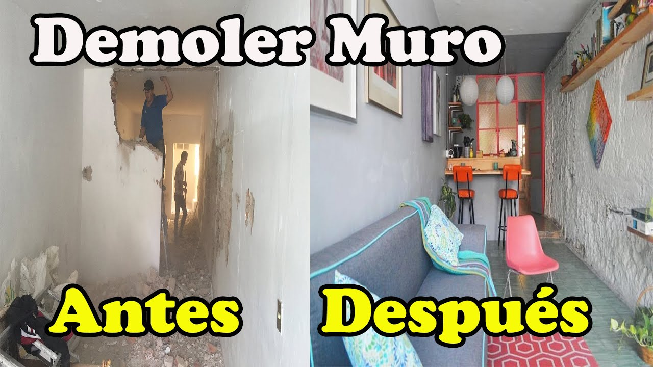 Como demoler una pared de ladrillo youtube - Como insonorizar una pared ...