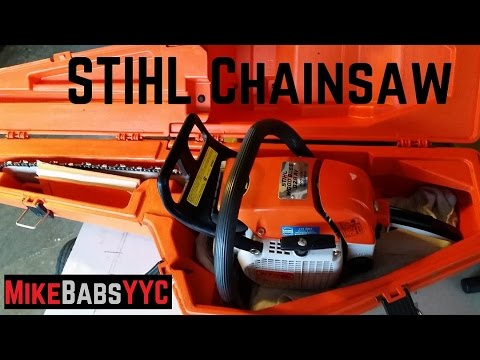 027 My New Toy 20 Year Old STIHL Wood Boss 028 AV WB Electronic Quickstop Chainsaw