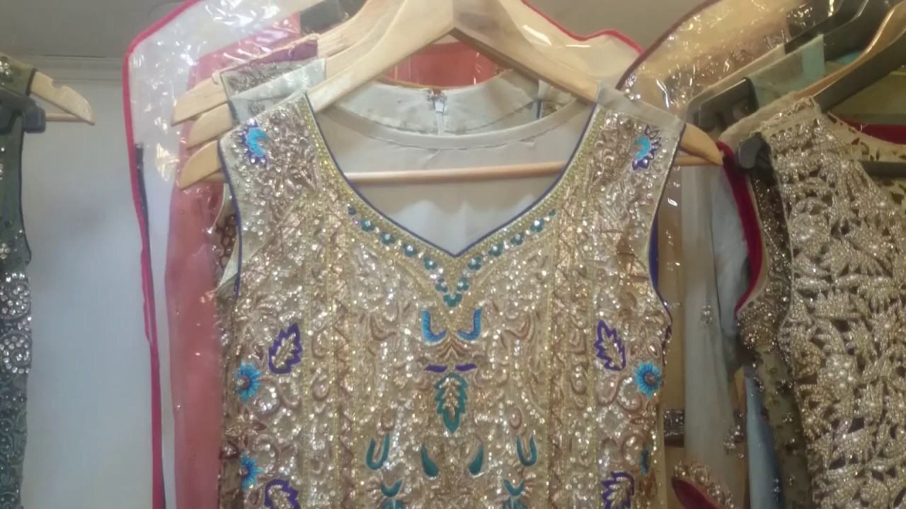 Pakistani Party Dress With Heavy Embroidery And Cut Work Youtube