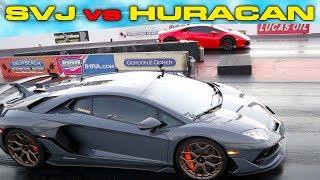KING OF THE RING PHOTO FINISH  770HP Lamborghini Aventador SVJ vs Huracan Drag Racing 14 Mile