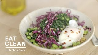 Poached Egg And Edamame Rice Bowl Recipe - Eat Clean With Shira Bocar