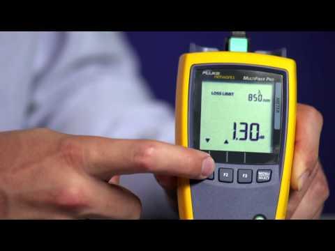 MultiFiber Pro- Optical Power Meter and Light Source: By Fluke Networks