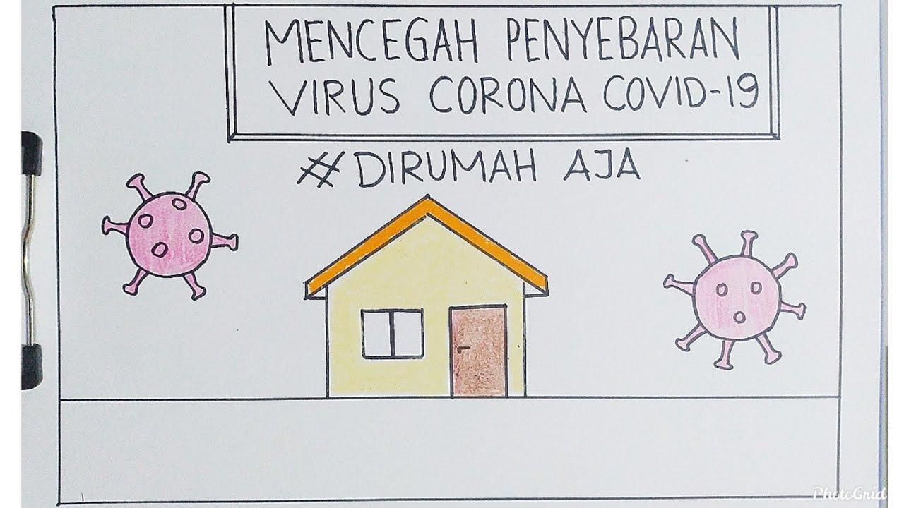 Cara Mudah Menggambar dan Mewarnai Poster Covid -19 atau Virus Corona - Tutorial Indonesia - YouTube