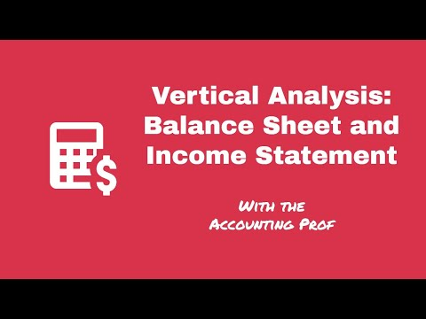 Vertical Analysis - Balance Sheet And Income Statement