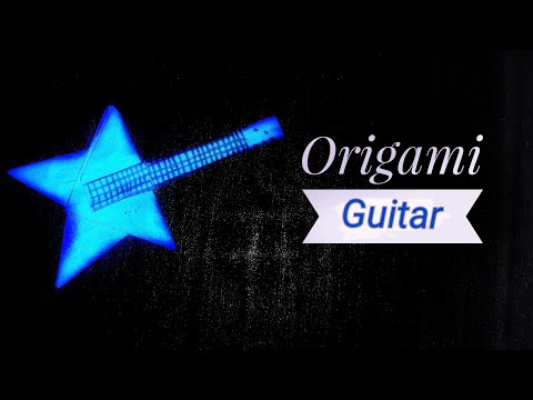 Origami: Guitar/bass | Miniature Guitar | How to make an Origami guitar so easily|Stop Motion Lover