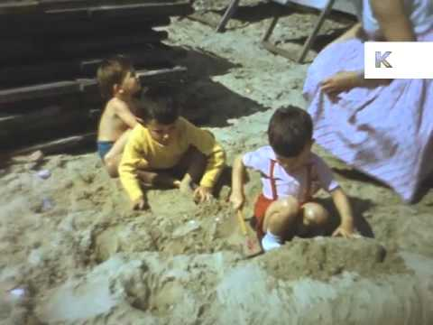 Late 50s Early 60s Seaside Holiday, UK Family Home Movies