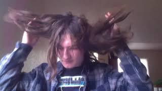 me taking my hair down