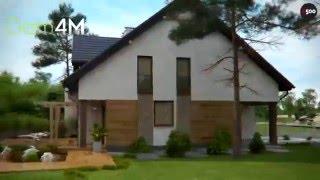 4M546 Проект двухэтажного дома на две семьи с раздельными входами и гаражами