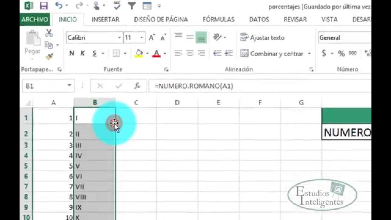 Excel Numero Romanos Youtube