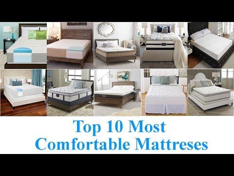Top 10 Most Comfortable Mattresses 2018