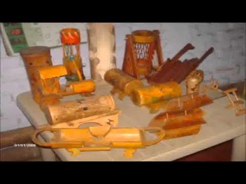 Artesanias en guadua y bambu 1 youtube - Muebles de bambu ...