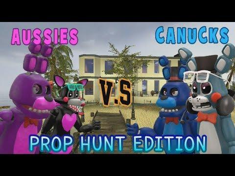AUSSIES VS CANUCKS (Gmod Prop Hunt Edition) || LAST MILLISECOND KILL! || Zany Gmod #24