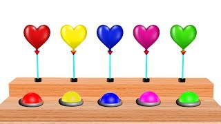 Heart Balloons Colors For Kids || Learning Colors and Nursery Rhymes Collection For Children