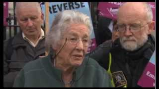 Older and Bolder Protest over Home Help Cuts