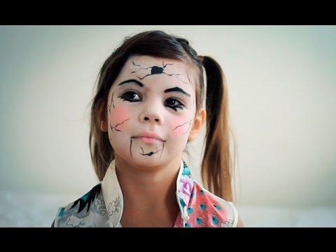 Maquillaje de Halloween para niñas Muñeca de porcelana