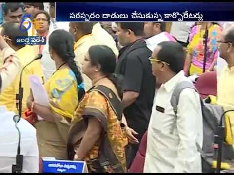 TDP and YCP Corporators Fight in Nellore Municipal Corporation Meeting